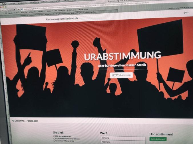 Der BVFI lädt zur Urabstimmung über einen möglichen Streik. www.praxisverband.de
